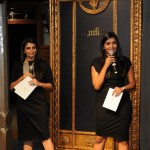 Monica and Karishma at the launch of their bridal couture studio in Mumbai