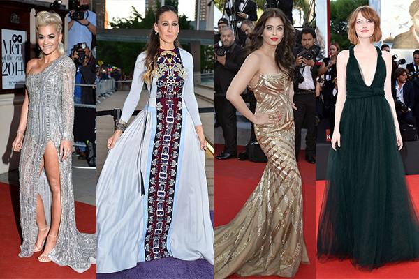 International fashion looks of the year sarah jessica parker aishwarya rai bachchan rita ora emma stone