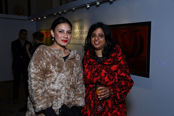 Fatima Karan, Priyanka Mathew at the Sotheby's cocktail in New Delhi