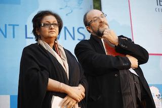 Namita Gokhale and William Dalrymple
