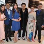 Kiran and Sunil Datwani, Zarine Khan,Karan Johar, Evelyn Sharma, Mahaakshay Chakraborty at the KJo for Gehna Launch