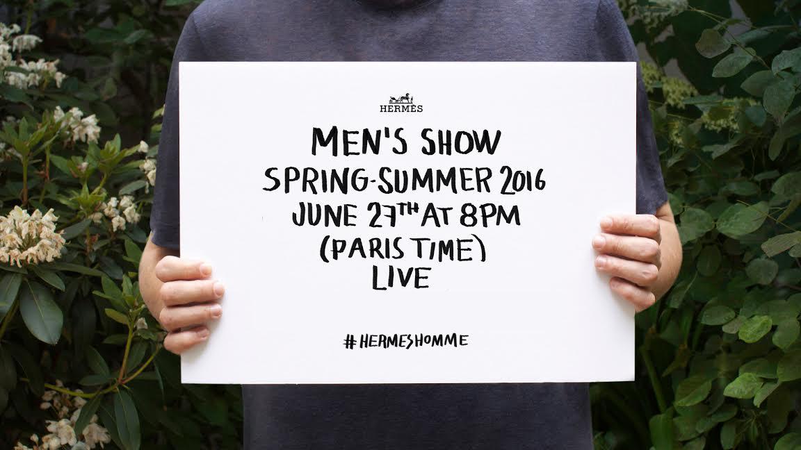hermes livestream mens collection for spring summer 2016 paris live