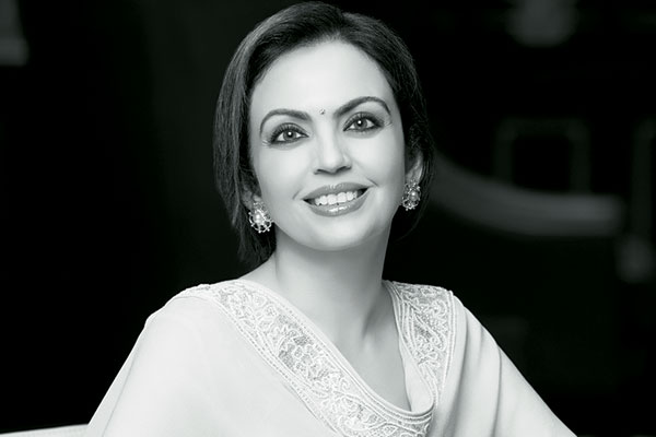 Nita Ambani, Indian businesswoman and the founder and chairperson of the Dhirubhai Ambani International School