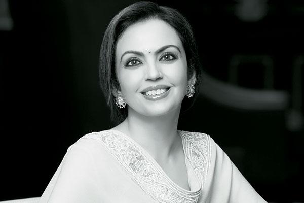 Nita Ambani, Indian businesswoman and the founder and chairperson of the Dhirubhai Ambani International School