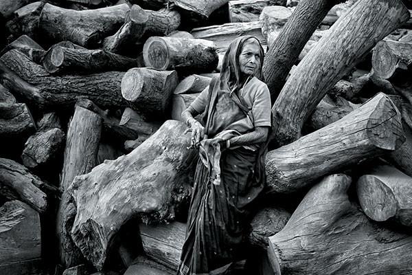 The Dark Lady in Woods, Varanasi