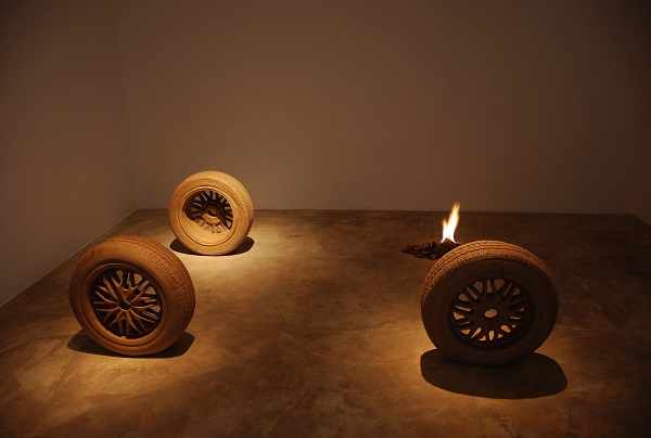 Fire by Krishnaraj Chonat at Gallery Ske, Bengaluru