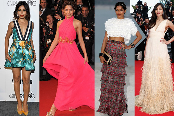 Freida Pinto, Hollywood, Actress, Ambassador, Indian, style evolution, fashion