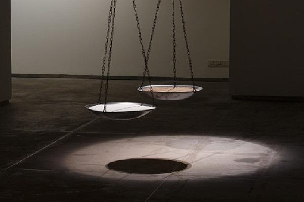 Artwork by Nadia Kaabi-Linke at Experimenter, Kolkata