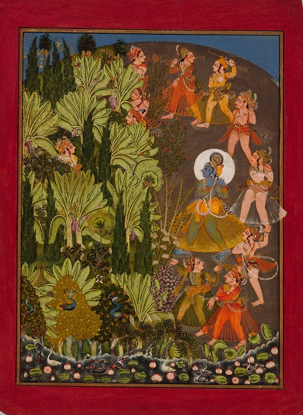 Krishna and the Gopas (Cow Herders) Enter the Forest