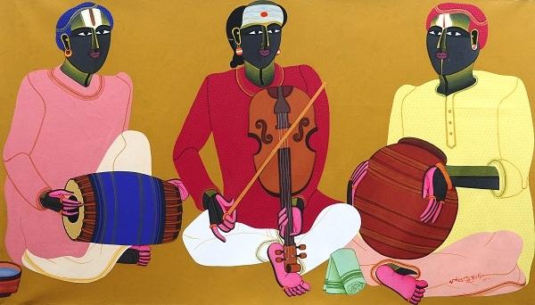 Artwork by T. Vaikuntam at ICIA, Mumbai