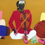Artwork by T. Vaikuntam at ICIA, Mumbai