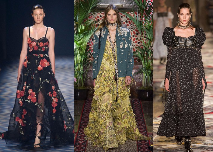 bohemian dresses, gypsy, international fashion, fashion week, trends,