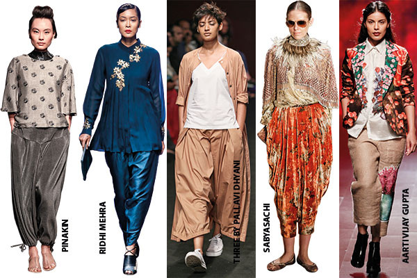 Fashion, Lakme Fashion Week, Winter/Festive '16 edition, drop-crotch pants, layered, boxy and pocketed trousers