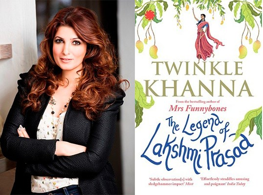 Author Twinkle Khanna, The Legend Of Lakshmi Prasad book