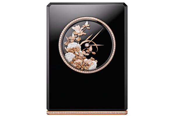 Chanel Mademoiselle Privé Coromandel Table Clock