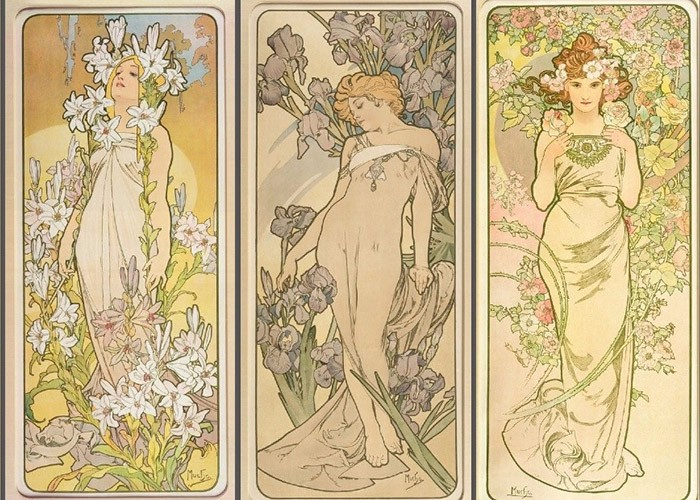 Flowers, Alphonse Mucha, Varun Bahl,