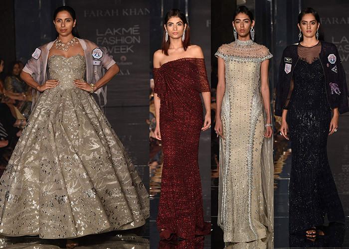 Falguni Shane Peacock X Farah Khan, Lakme Fashion Week, Lakme Fashion Week Winter Festive 2017, Fashion, Designers, Runway, LFW,