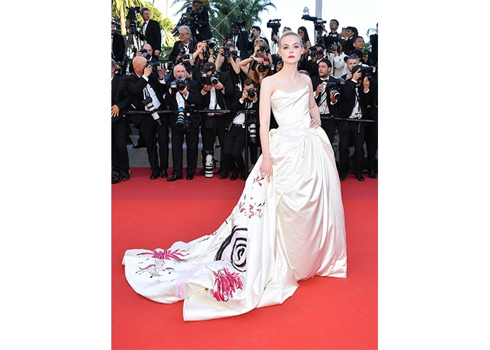 Fashion, Featured, Online Exclusive, Red Carpet, Style, Elle Fanning in Vivienne Westwood at the Cannes Film Festival