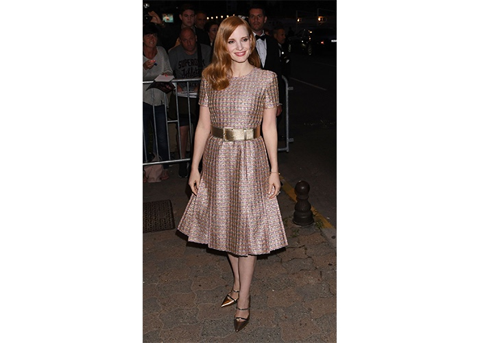 Fashion, Featured, Online Exclusive, Red Carpet, Style, Jessica Chastain in Chanel Couture at the Vanity Fair and Chanel DinnerJessica Chastain in Chanel Couture at the Vanity Fair and Chanel Dinner