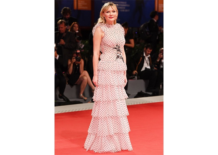 Fashion, Featured, Online Exclusive, Red Carpet, Style, Kirsten Dunst in Rodarte at the premiere of 'Woodshock' at the Venice Film Festival