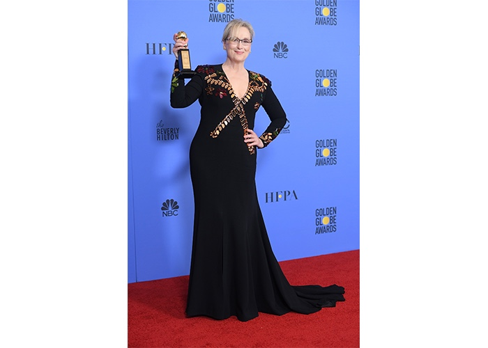 Fashion, Featured, Online Exclusive, Red Carpet, Style, Meryl Streep in Givenchy at the Golden Globe Awards