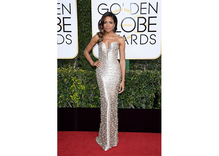 Fashion, Featured, Online Exclusive, Red Carpet, Style, Naomie Harris in Armani Privé at the Golden Globe Awards