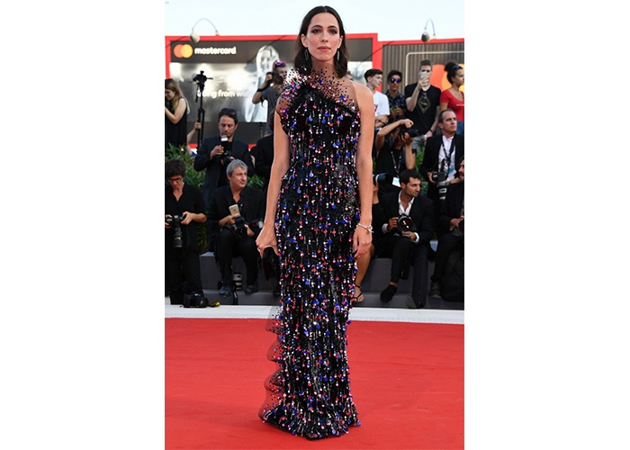 Fashion, Featured, Online Exclusive, Red Carpet, Style, Rebecca Hall in Armani Privé a the Venice Film Festival