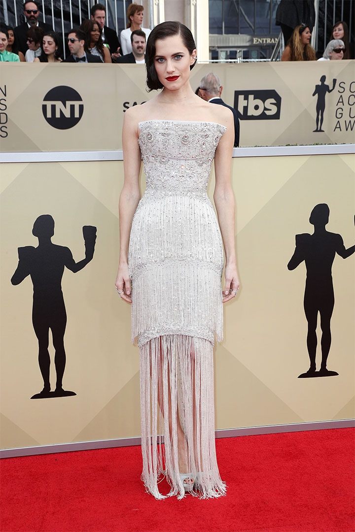 Allison Williams, Ralph & Russo Couture, 2018, 24th Annual Screen Actors Guild Awards, Fashion, Featured, Online Exclusive, Red Carpet, SAG Awards, Screen Actors Guild Awards, Style