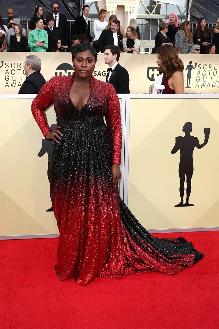 Danielle Brooks, Marc Bouwer, 2018, 24th Annual Screen Actors Guild Awards, Fashion, Featured, Online Exclusive, Red Carpet, SAG Awards, Screen Actors Guild Awards, Style