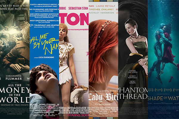 Academy Awards, Actors, Actresses, All the Money In The World, Battle of The Sexes, Borg McEnroe, Call Me By Your Name, Cinema, Darkest Hour, Dunkirk, Featured, Films, Hollywood, I, Lady Bird, Missouri, Movies, Mudbound, Online Exclusive, Oscars, Phantom Thread, The Disaster Artist, The Post, The Shape Of Water, Three Billboards Outside Ebbing, Tonya