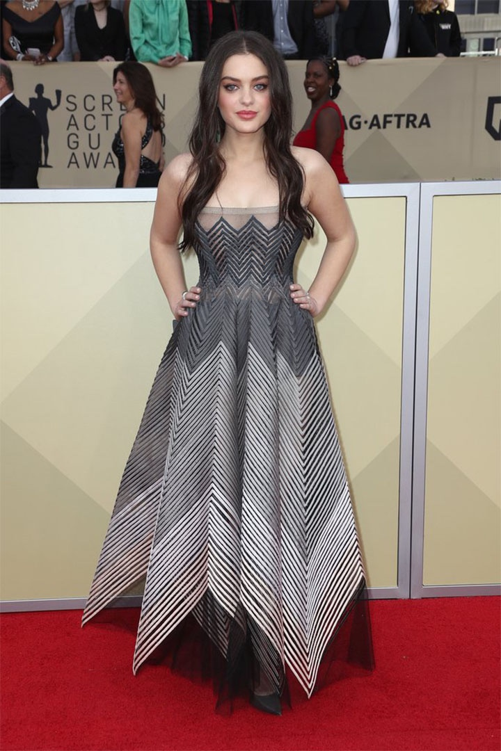 Odeya Rush, Christian Dior Couture, 2018, 24th Annual Screen Actors Guild Awards, Fashion, Featured, Online Exclusive, Red Carpet, SAG Awards, Screen Actors Guild Awards, Style