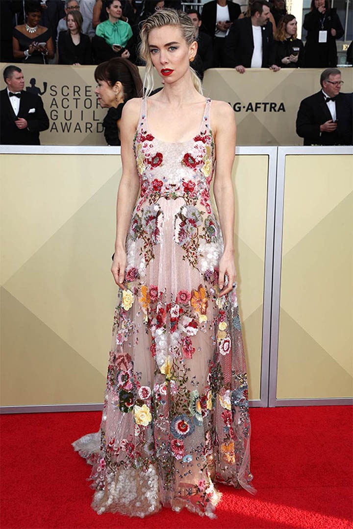Vanessa Kirby, Valentino, 2018, 24th Annual Screen Actors Guild Awards, Fashion, Featured, Online Exclusive, Red Carpet, SAG Awards, Screen Actors Guild Awards, Style