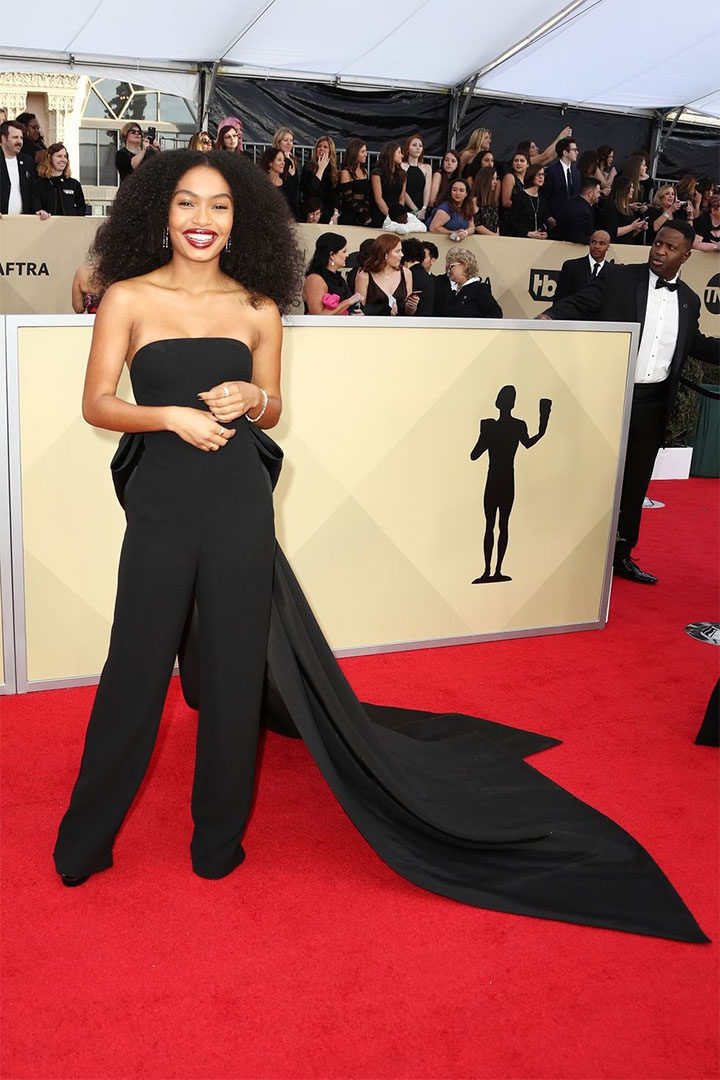 Yara Shahidi, Ralph Lauren, 2018, 24th Annual Screen Actors Guild Awards, Fashion, Featured, Online Exclusive, Red Carpet, SAG Awards, Screen Actors Guild Awards, Style