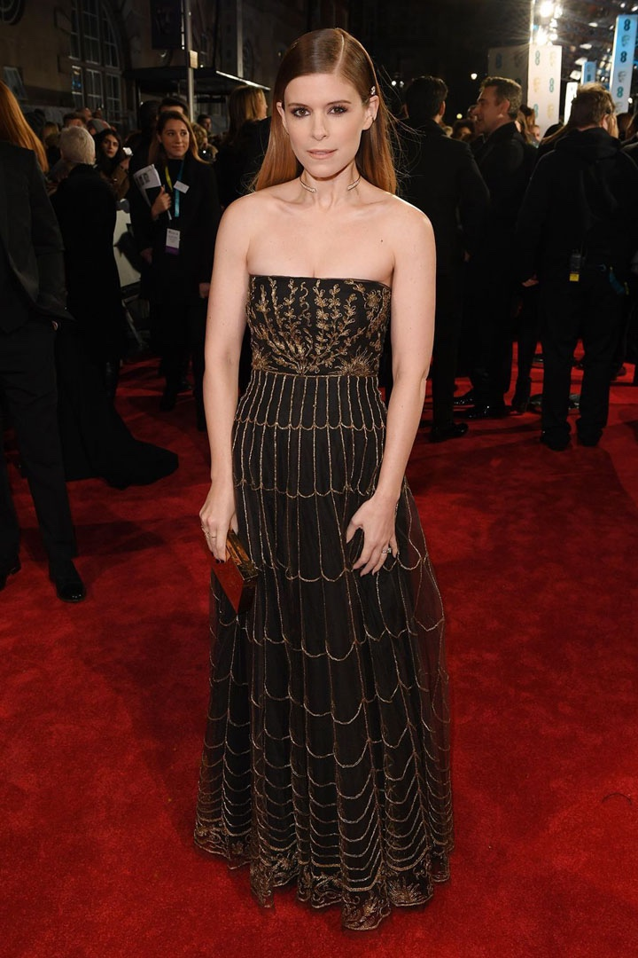 Kate Mara, Christian Dior, Awards Show, BAFTA, BAFTAs 2018, Black, British Academy Film Awards, Cinema, Entertainment, Fashion, Featured, Film, Hollywood, Movies, Online Exclusive, Style, Time's Up
