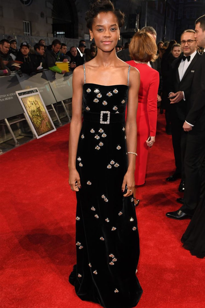 Letitia Wright, Gucci, Awards Show, BAFTA, BAFTAs 2018, Black, British Academy Film Awards, Cinema, Entertainment, Fashion, Featured, Film, Hollywood, Movies, Online Exclusive, Style, Time's Up