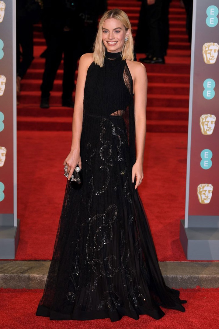 Margot Robbie, Givenchy, Awards Show, BAFTA, BAFTAs 2018, Black, British Academy Film Awards, Cinema, Entertainment, Fashion, Featured, Film, Hollywood, Movies, Online Exclusive, Style, Time's Up
