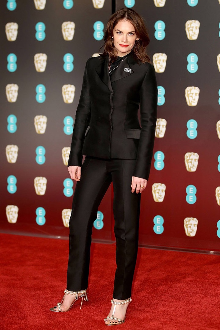 Ruth Wilson, Christian Dior, Awards Show, BAFTA, BAFTAs 2018, Black, British Academy Film Awards, Cinema, Entertainment, Fashion, Featured, Film, Hollywood, Movies, Online Exclusive, Style, Time's Up