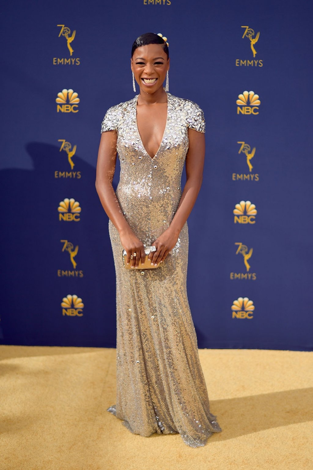 Samira Wiley in Jenny Packham, 70th Annual Primetime Emmy Awards, Betty White, Emmys 2018, Fashion, Featured, Glenn Weiss, Hannah Gadsby, highlights, Jav Svendsen, Online Exclusive, Style, The Marvellous Mrs. Maisel, top moments, We solved it, Diversity