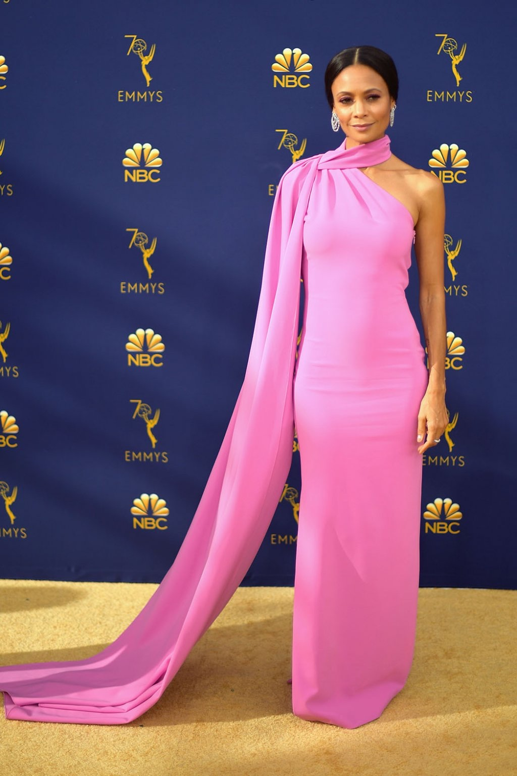 Thandie Newton in Brandon Maxwell, 70th Annual Primetime Emmy Awards, Betty White, Emmys 2018, Fashion, Featured, Glenn Weiss, Hannah Gadsby, highlights, Jav Svendsen, Online Exclusive, Style, The Marvellous Mrs. Maisel, top moments, We solved it, Diversity