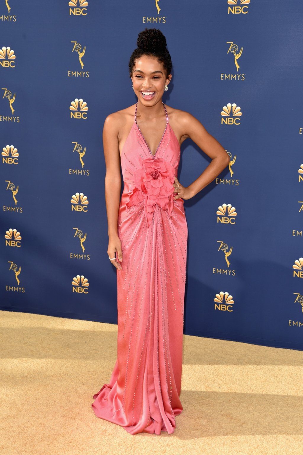 Yara Shahidi in Gucci, 70th Annual Primetime Emmy Awards, Betty White, Emmys 2018, Fashion, Featured, Glenn Weiss, Hannah Gadsby, highlights, Jav Svendsen, Online Exclusive, Style, The Marvellous Mrs. Maisel, top moments, We solved it, Diversity