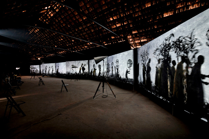 A Place Beyond Belief, Art, Crafts, Kochi Muziris Biennale, Kochi-Muziris Biennale 2018, Lubna Chowdhary, Messages from the Atlantic Passage, Metropolis, More Sweetly Play the Dance, Nathan Coley, String Loom, Sue Williamson, Tania Candiani, The Guerilla Girls, William Kentridge