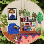 @singhleton, Anuradha Bhaumick, Belletrist, Embroidery, embroidery artist, embroidery hoops, embroidery that empowers, Emma Roberts' book club, Featured, Hooplaback Girl, Indian embroidery artist, Online Exclusive, Read It Forward Book Club, Tiny Pricks Projects
