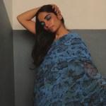 Featured, Gayathri Mohan, Kumari Sari, Malika Verma Kashyap, Online Exclusive, pre-stitched sari, Rashmi Varma, sari dress, Silk Sssnake, Simran Randhawa