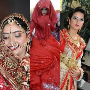 Sposa indiana, irachena e marocchina