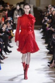 moda, fashion, rosso, sfilate, passerelle, giambattista valli