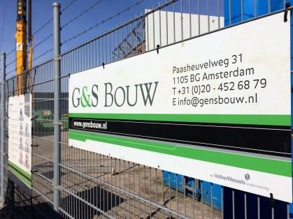 G&S Bouw te Amsterdam.