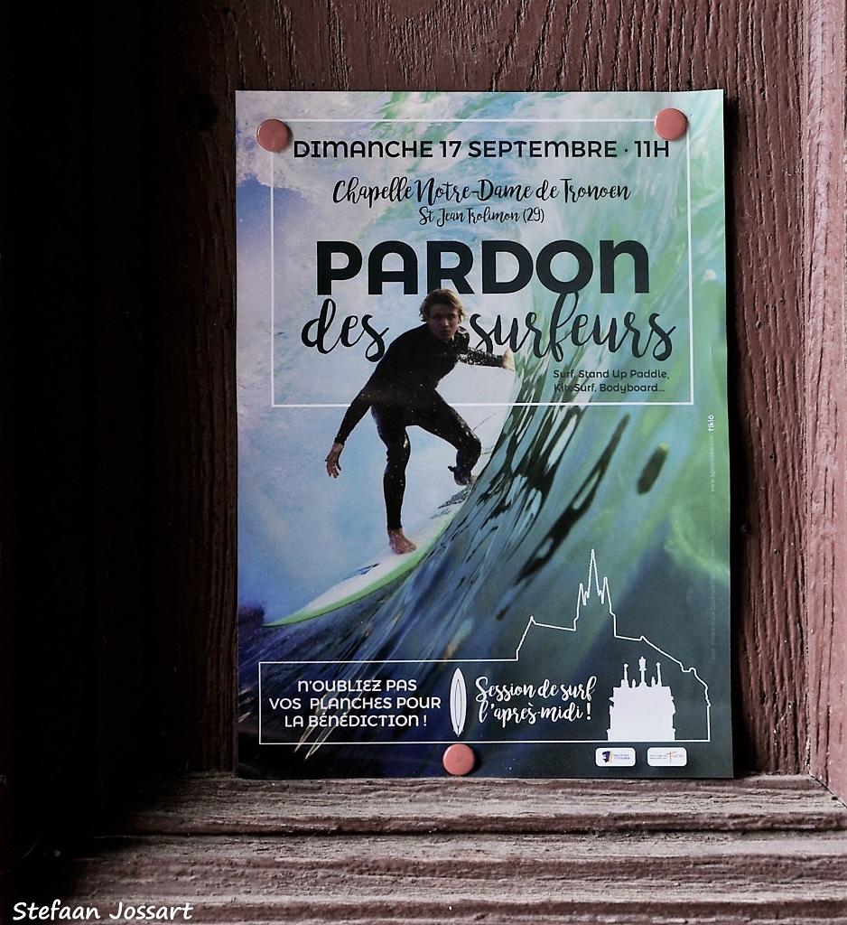 Aankondiging van van de Pardon du surfeurs.