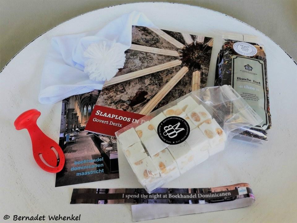 Enkele dingen uit de goodiebag én thee en nougat van Maison Blanche Dael.