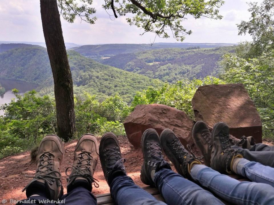 Even rusten aan de kleine Cloef en genieten van een prachtig uitzicht.