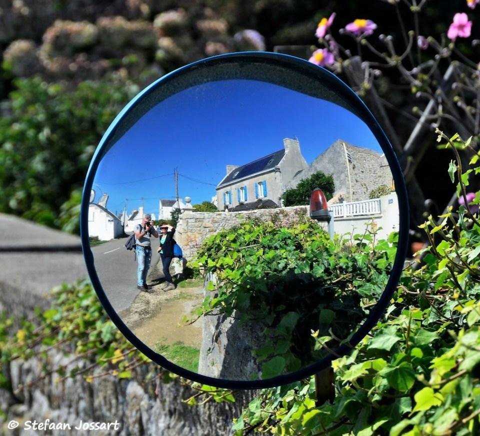 Verkeersspiegel in Bretagne
